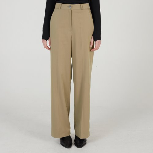 MG0S WIDE LONG SLACKS (BEIGE)