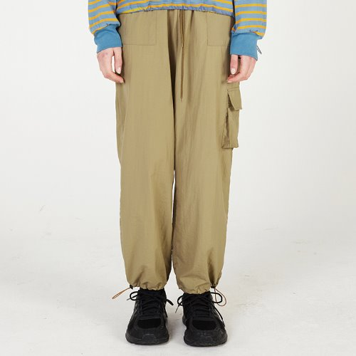 MG0S NYLON JOGGER PANTS (BEIGE)