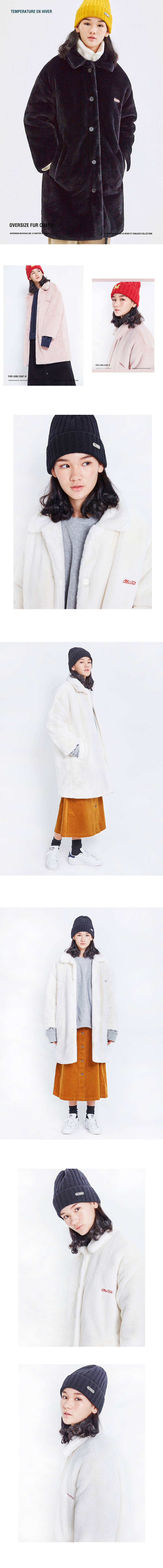 매치글로브(MATCHGLOBE) MG8F BASIC FUR COAT (IVORY)