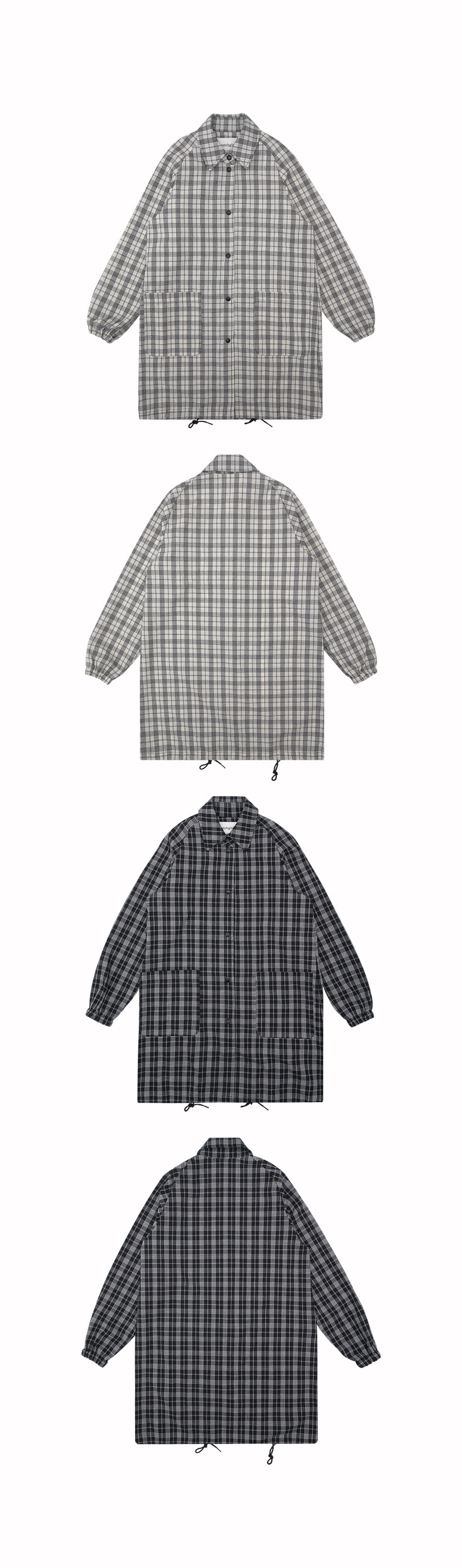 매치글로브(MATCHGLOBE) MG9S CHECK SHIRT JACKET (WHITE)