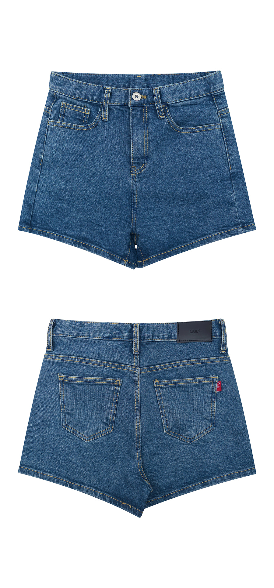 매치글로브(MATCHGLOBE) MG9S DENIM BASIC SHORTS (BLUE)