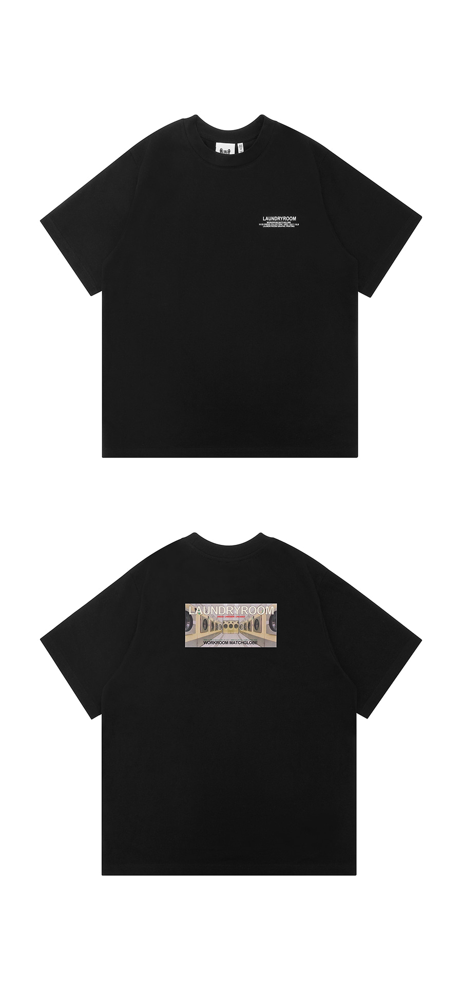 매치글로브(MATCHGLOBE) MG9S LAUNDRY TEE (BLACK)