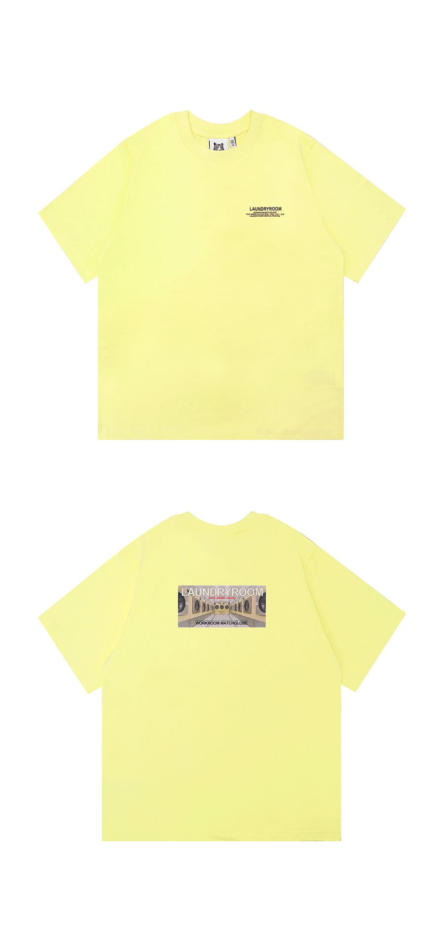 매치글로브(MATCHGLOBE) MG9S LAUNDRY TEE (LIGHT YELLOW)