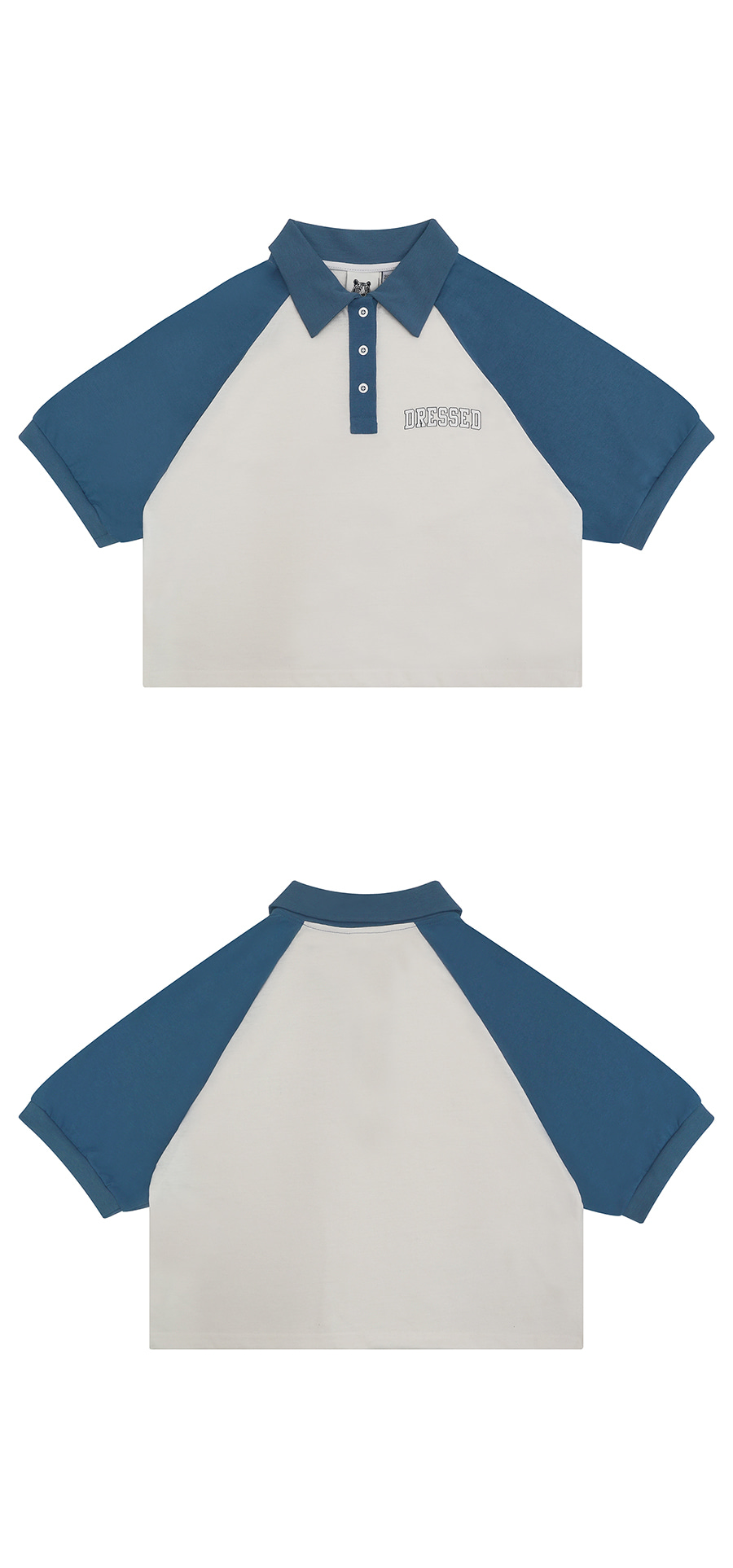 매치글로브(MATCHGLOBE) MG9S RAGLAN COLLAR TEE (DARK BLUE)