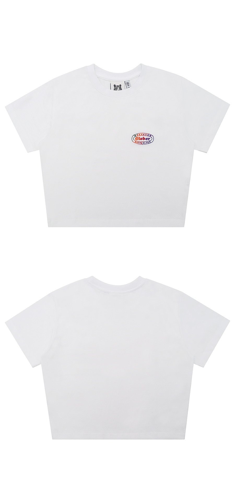 매치글로브(MATCHGLOBE) MG9S RAINBOW CROP TEE (WHITE)