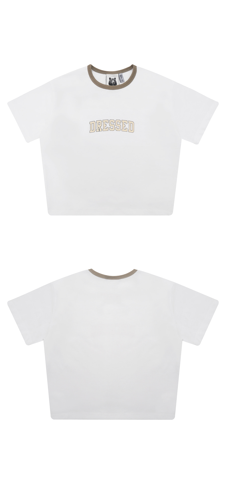 매치글로브(MATCHGLOBE) MG9S DRESSED CROP TEE (BEIGE)