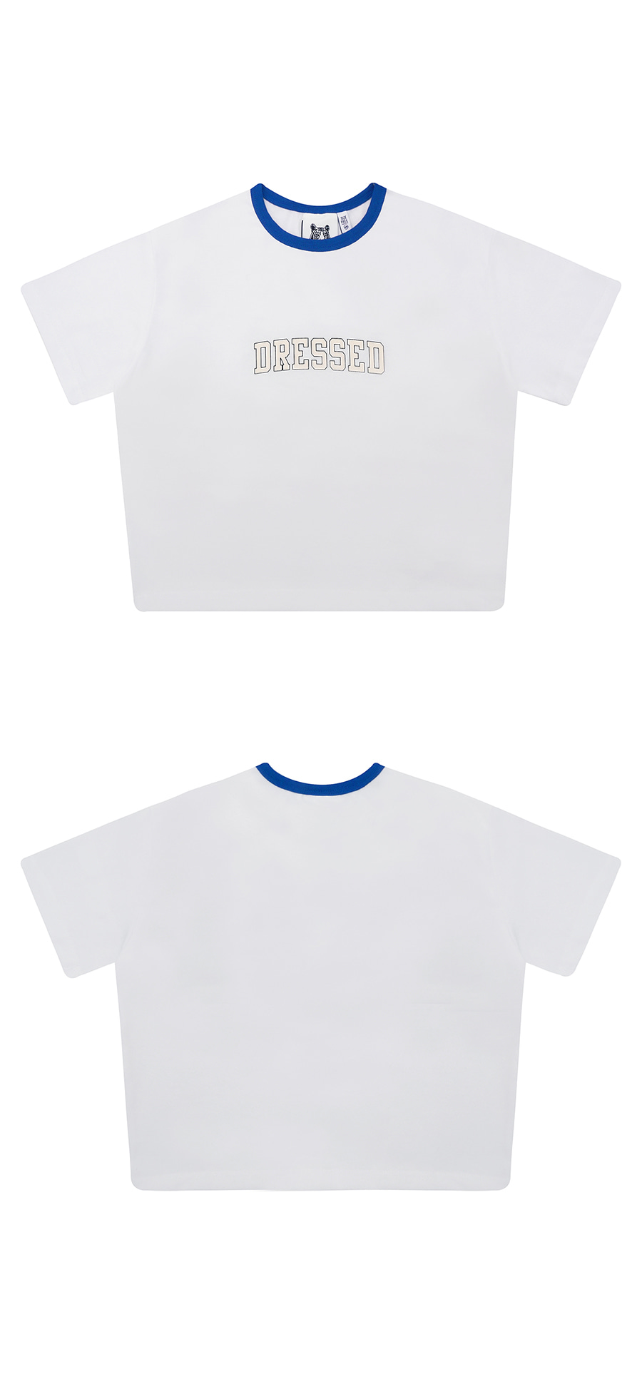 매치글로브(MATCHGLOBE) MG9S DRESSED CROP TEE (BLUE)