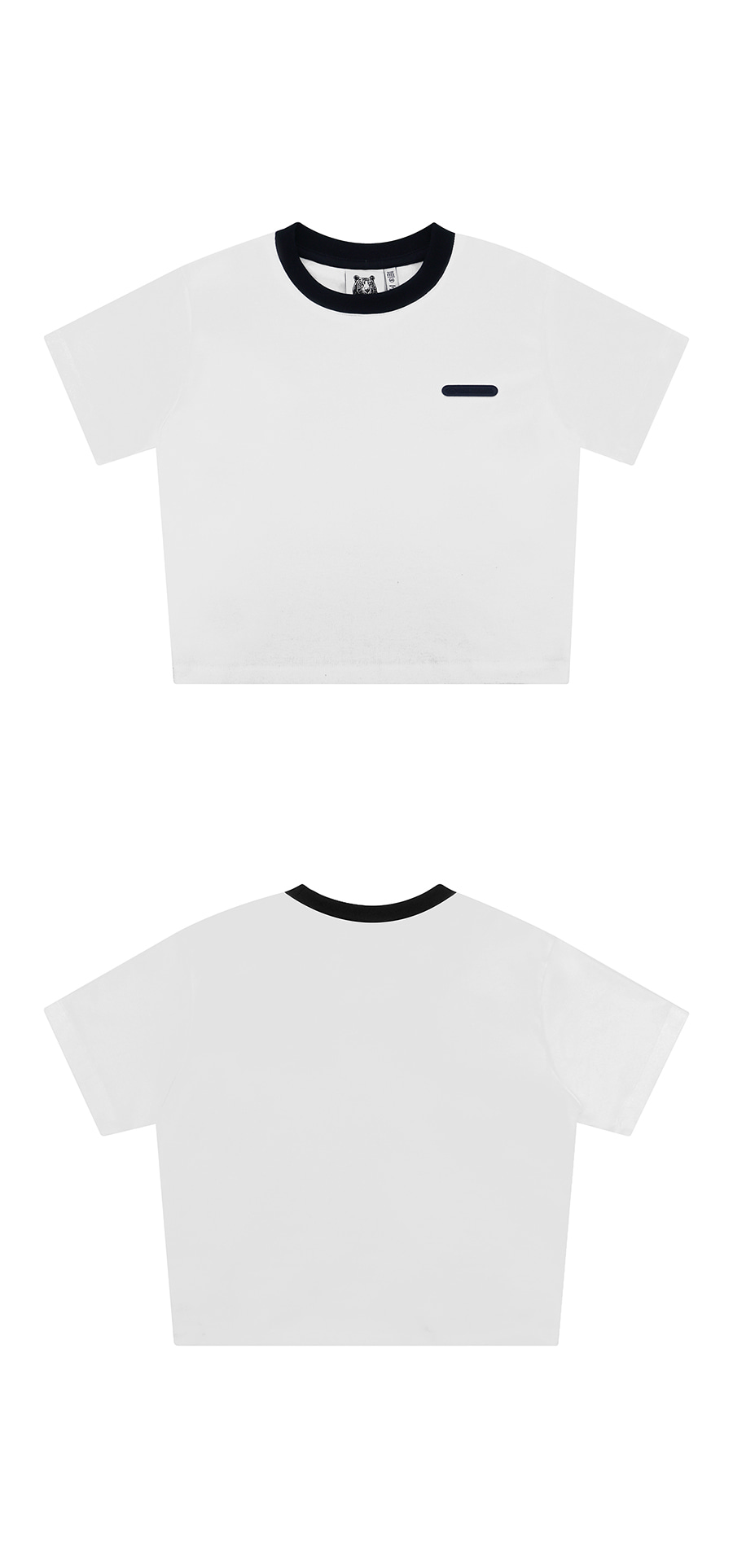 매치글로브(MATCHGLOBE) MG9S NECK POINT CROP TEE (WHITE)