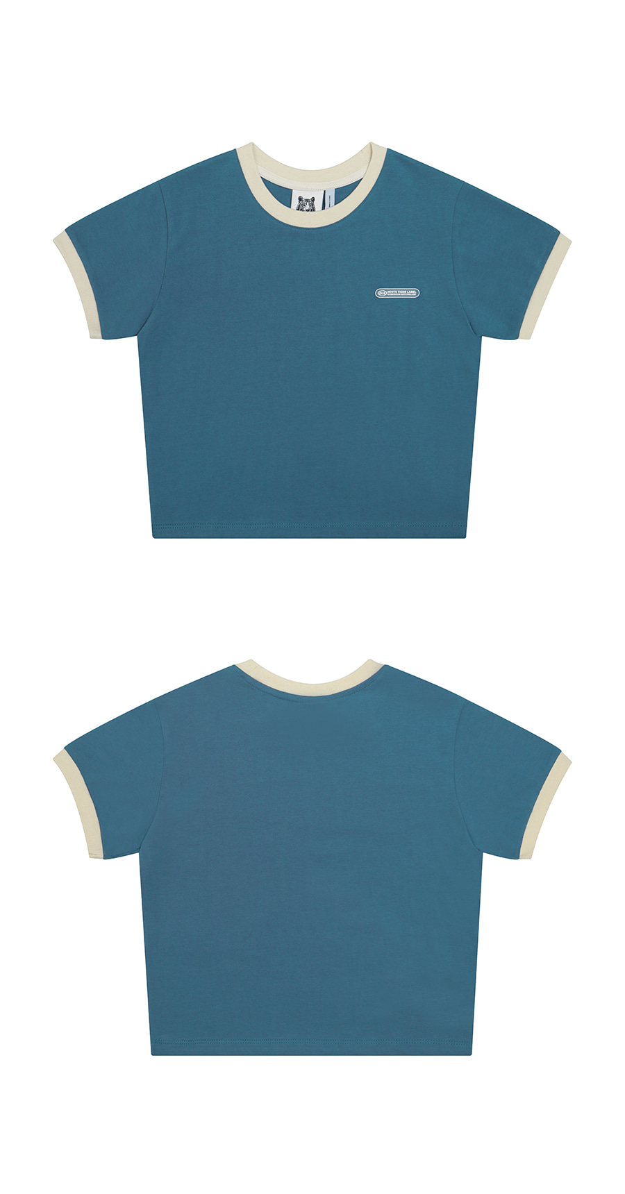매치글로브(MATCHGLOBE) MG9S RINGER CROP TEE (DARK BLUE)