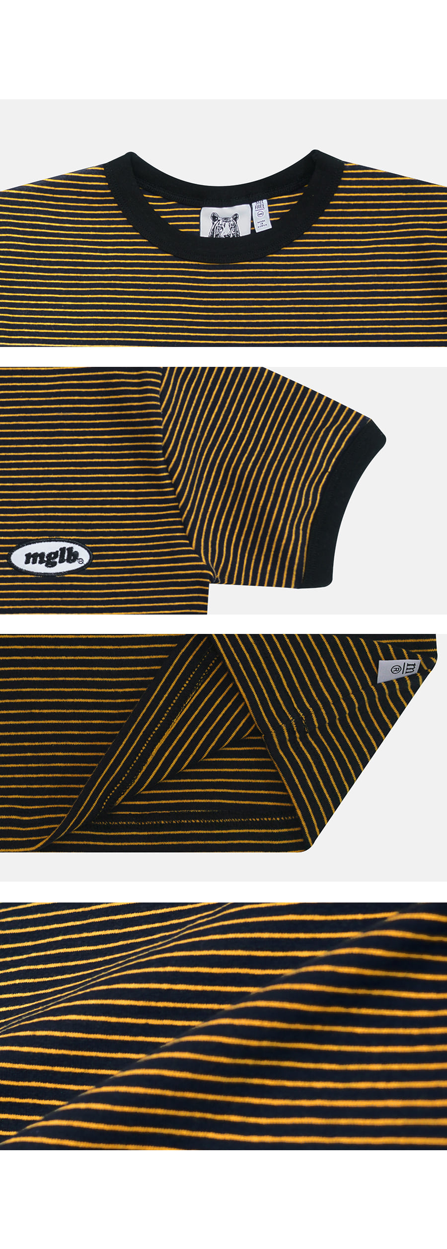 매치글로브(MATCHGLOBE) MG9S STRIPE MG CROP TEE (NAVY)