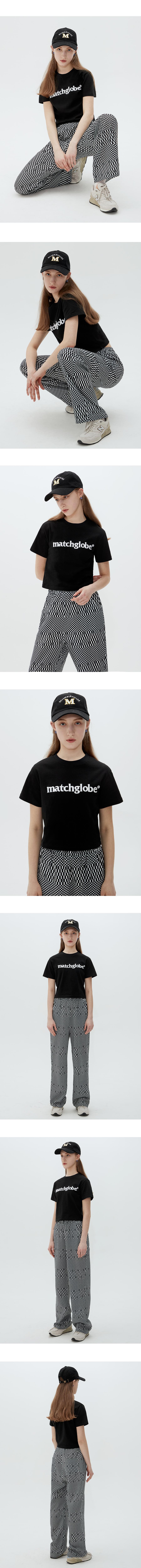 매치글로브(MATCHGLOBE) 3D 로고 엠보 크롭 티 (민트)