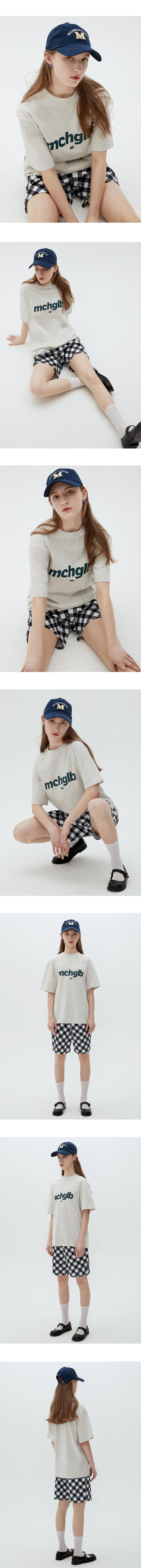 매치글로브(MATCHGLOBE) MCHGLB 박스핏 티 (오트밀)